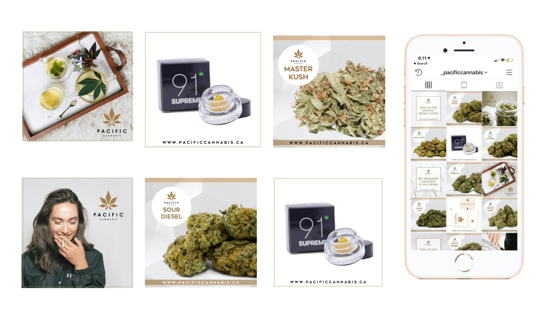 Dispensary marketing feed